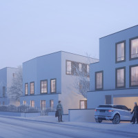 Une soirée d'hiver dans la rue Emile Zola